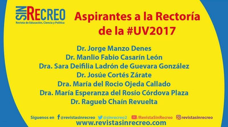 Los aspirantes a la rectoría de la #UV